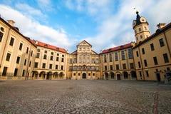 Castello in Niasvizh. quadrato centrale Fotografia Stock Libera da Diritti