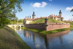 Castello Njasviž complesso in Bielorussia Fotografie Stock