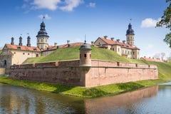 Castello Njasviž complesso in Bielorussia Immagini Stock Libere da Diritti