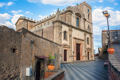 Castello Normanno in Forza d'Agro. Sicily Stock Photos