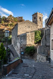 Castello Normanno in Forza d'Agro. Sicily Stock Images