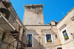 Castello normanno Rutigliano La Puglia L'Italia Immagine Stock Libera da Diritti