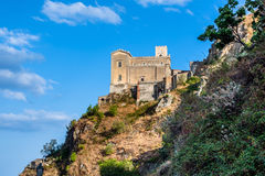 Castello Normanno w Forza d'Agro sicily Fotografia Stock