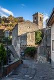 Castello Normanno w Forza d'Agro sicily Obrazy Stock