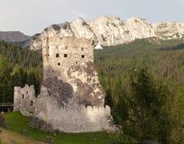 Castello o castello Buchenstein, alpi dell'europeo di Italien Immagini Stock