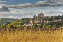 Castello o chateau di Beynac Immagini Stock Libere da Diritti
