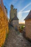 Castello o chateau di Beynac Fotografia Stock Libera da Diritti