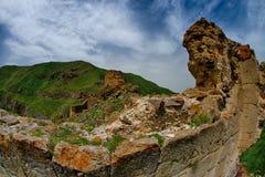 Castello Panaroma del diavolo in Kars Fotografie Stock Libere da Diritti