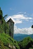 Castello Pergine, torre del sur Fotos de archivo libres de regalías