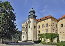 Castello Pieskowa Skala in Polonia Immagine Stock