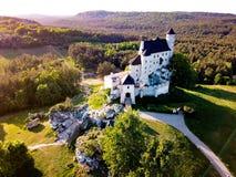 Castello polacco del paesaggio Fotografie Stock Libere da Diritti