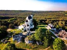 Castello polacco del paesaggio Fotografia Stock Libera da Diritti