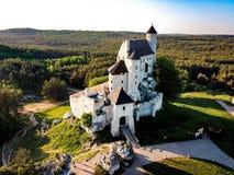 Castello Polonia Bobolice Immagini Stock Libere da Diritti