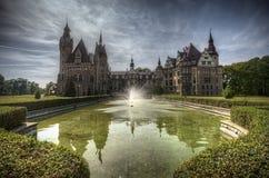 Castello Polonia di Moszna Fotografie Stock
