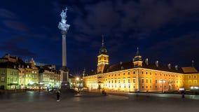 Castello quadrato e la colonna di Sigismund fotografia stock