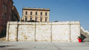 Castello quarter aka Casteddu e susu in Cagliari, Italy. Castello quarter aka Casteddu e susu meaning Upper Castle in Sard old medieval town city centre in royalty free stock photos