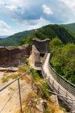 Castello reale di Dracula & x28; Poenari Castle& x29; , Transilvania, Romania fotografia stock libera da diritti