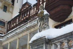 Castello reale di Peles, statua ornamentale Fotografia Stock Libera da Diritti