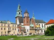Castello reale di Wawel Cracovia - in Polonia Immagini Stock