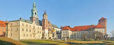 Castello reale di Wawel - panorama cucito Immagini Stock Libere da Diritti