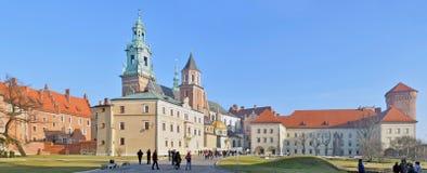Castello reale di Wawel - panorama cucito Fotografia Stock