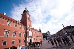 Castello reale a Varsavia Fotografie Stock Libere da Diritti