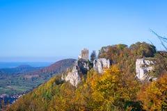 Castello Reussenstein in autunno Fotografia Stock