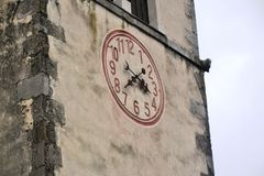 Castello Rihenberk Kras di regione di Gorica Karst Primorska di vista del villaggio di Branik Slovenia Fotografia Stock