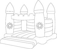 Castello rimbalzante in bianco Fotografia Stock