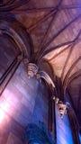 Castello romanico al verticale di notte Fotografia Stock