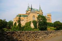 Castello romantico di Bojnice Immagine Stock