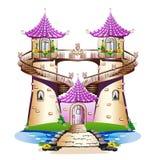Castello rosa di favola Fotografia Stock