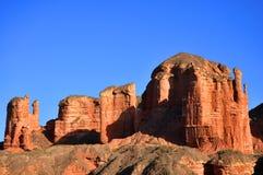 Castello rosso della roccia Fotografia Stock Libera da Diritti