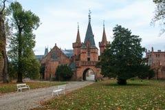 Castello rosso in Hradec nad Moravici, repubblica Ceca Fotografie Stock