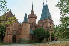 Castello rosso in Hradec nad Moravici, repubblica Ceca Immagini Stock