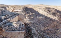 Castello rovinato Shobak Fotografie Stock