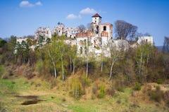Castello Rudno - Polonia. immagine stock