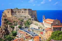 Castello Ruffo in Scilla Fotografie Stock