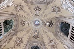 Castello Sammezzano, bianco del soffitto arcato Immagini Stock
