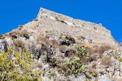 Castello saraceno in Taormina, Sicilia, Italia Fotografie Stock Libere da Diritti