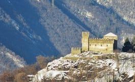 Castello Sasso Corbaro,贝林佐纳 瑞士 图库摄影