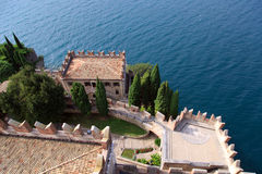 Castello Scaligero二马尔切西内 库存照片