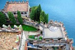 Castello Scaligero在马尔切西内,意大利 免版税库存照片