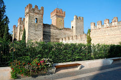 Castello Scaligero di Lazise (castillo de Lazise) Fotos de archivo libres de regalías