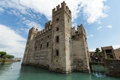 Castello Scaligero di Sirmione Sirmione Castle, built in XIV century, Lake Garda, Sirmione, Stock Images