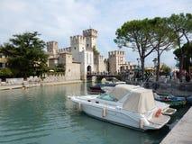 Castello Scaligero, Sirmione, Italien Arkivfoto
