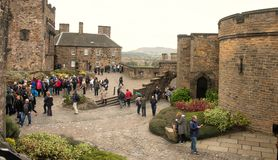 Castello Scozia di Edinburgh Immagini Stock