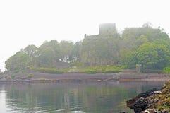 Castello scozzese nella foschia Fotografia Stock Libera da Diritti