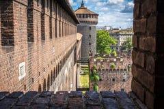 Castello Sforzesco米兰 免版税库存图片