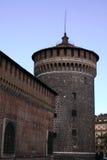 Castello sforzesco. A shot of Sforza's castle in milan stock image
